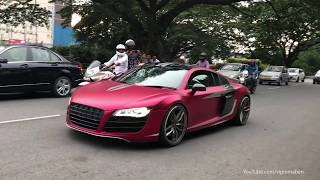 SUPERCARS IN INDIA - 2018 JULY (Bangalore) Aventador, RS6 Avant & more