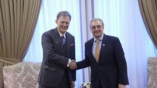 Встреча министра иностранных дел Зограба Мнацаканяна с заместителем помощника госсекретаря США Джорджем Кентом.