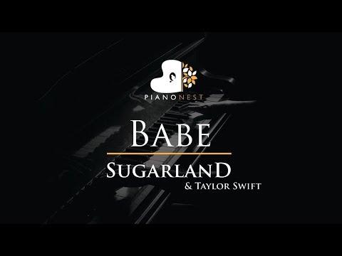 Sugarland - Babe ft. Taylor Swift - Piano Karaoke / Sing Along / Cover with Lyrics