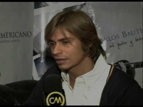 Carlos Baute video De mi puño y letra - Entrevista Argentina 2009