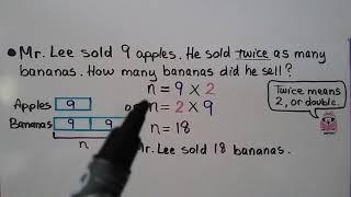 4th Grade Math 2.1, Multiplication Comparisons