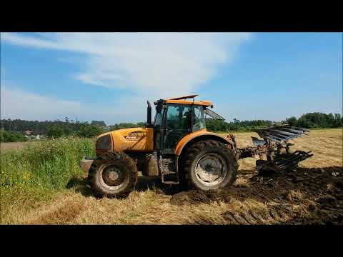 Renault Ares 826 RZ Ploughing / Lavrar / DIRTY BEAST!!! Barcelos, Portugal