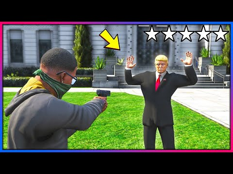 What happens if you rob Mr President?! (GTA 5 Mods)