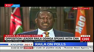 NASA leader Raila Odinga plans to use the constitution to fight President Uhuru's win
