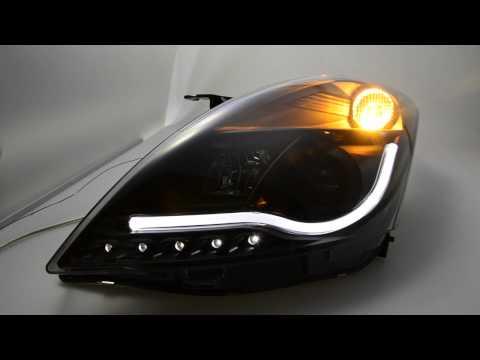 SW-LTube Scheinwerfer Suzuki Swift FZ/NZ black Lighttube SW-Tuning