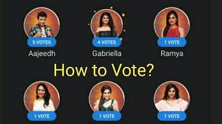 How to Vote - Bigg Boss Tamil Season 4 | Vijay Television #Shorts