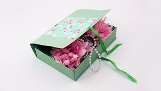 Как сделать подарочную коробку из картона своими руками