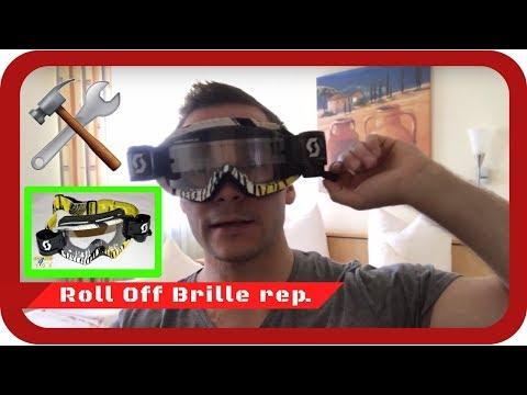 Motocross / Enduro Roll Off Scott Brille reparieren & Film tauschen