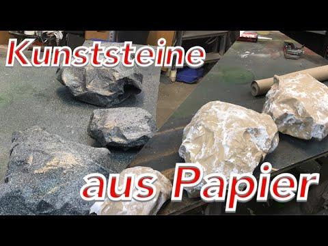 Steine Felsen selber machen herstellen Steinoptik lackieren Bühne Indoor Aquarium folgt