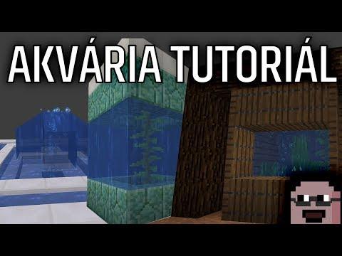 Akvária v Minecraftu 1.13 - tutoriál (vodní update, návod)