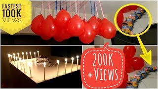 download video simple room decoration birthday party