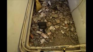 Ремонт в котельной, потолок с брусков и вагонки
