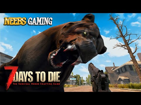 Zombie Bear Attack!  7 Days to Die