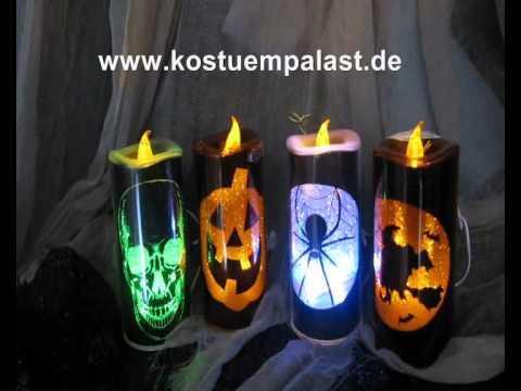 Glitzer Dekokerzen Halloween