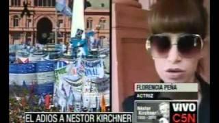 C5N ÚLTIMO ADIÓS NÉSTOR KIRCHNER FLORENCIA PEÑA