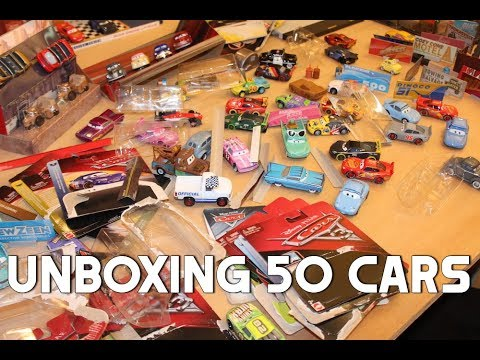 Unboxing 50 Disney Cars Die-casts (Piston Cup, World Grand Prix, Radiator Springs, Road Trip)