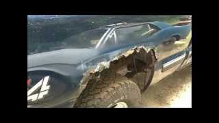 How to repair rusted wheel wells on a Chevy Silverado part 1