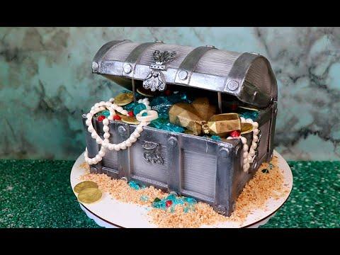 Идея пиратского торта в виде сундука