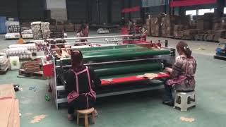 Semi-automatic Folder Gluer machine (Press model) youtube video