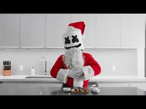 Cooking with Marshmello: How To Make Strawberry Santas (Christmas Edition)