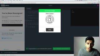 Codecademy - Python: Tutorial #1