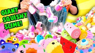 Adding Too Much Ingredients To Slime... But Using Squishies!