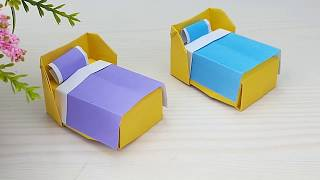 How To Make A Paper Bed - Easy Tutorials