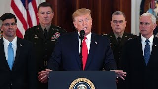 President Donald Trump delivers remarks on the growing tensions in the Middle East after Iran attacked U.S. military bases in Iraq as retaliation for killing General Qassem Soleimani. » Subscribe to NBC News: http://nbcnews.to/SubscribeToNBC » Watch more NBC video: http://bit.ly/MoreNBCNews  NBC News Digital is a collection of innovative and powerful news brands that deliver compelling, diverse and engaging news stories. NBC News Digital features NBCNews.com, MSNBC.com, TODAY.com, Nightly News, Meet the Press, Dateline, and the existing apps and digital extensions of these respective properties.  We deliver the best in breaking news, live video coverage, original journalism and segments from your favorite NBC News Shows.  Connect with NBC News Online! NBC News App: https://apps.nbcnews.com/mobile Breaking News Alerts: https://link.nbcnews.com/join/5cj/breaking-news-signup?cid=sm_npd_nn_yt_bn-clip_190621 Visit NBCNews.Com: http://nbcnews.to/ReadNBC Find NBC News on Facebook: http://nbcnews.to/LikeNBC Follow NBC News on Twitter: http://nbcnews.to/FollowNBC Follow NBC News on Instagram: http://nbcnews.to/InstaNBC  LIVE: Trump Makes Statement On Iran Missile Attack | NBC News (Live Stream)