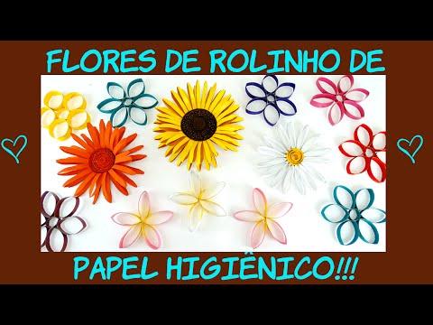 Flores de rolo de papel