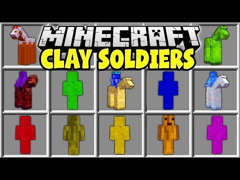 Minecraft CLAY SOLDIERS MOD | CRAFT AND CONTROL YOUR OWN MINECRAFT ARMY!!