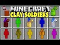 Minecraft CLAY SOLDIERS MOD CRAFT AND CONTROL YOUR OWN MINECRAFT ARMY