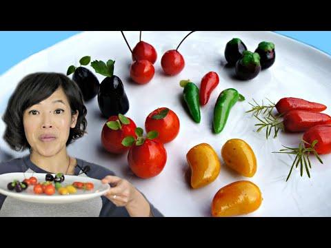 , title : 'DIY Thai Khanom Luk Chup - TINY fruit-shaped desserts made from MUNG BEAN PASTE