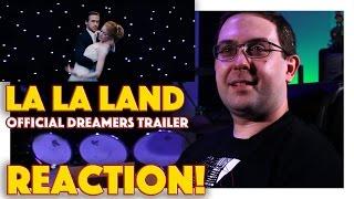 REACTION La La Land Dreamers Trailer  Ryan Gosling Movie 2016