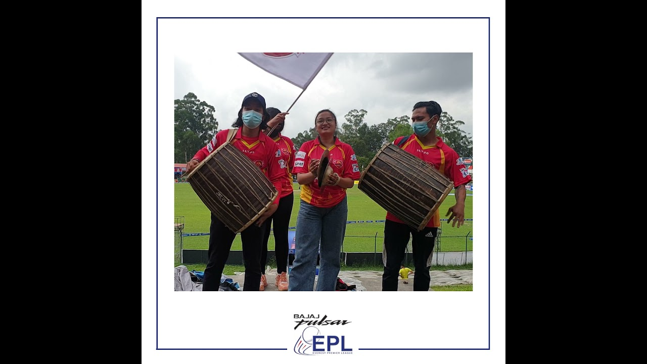 Fans supporting #LalitpurPatriots in thier traditional way.