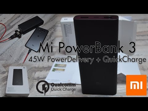 [Polish] Unboxing i krótki test Xiaomi Powerbank 3 20.000mAh PowerDelivery 45W QC3.0