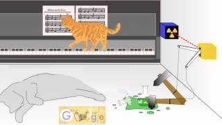 Cat Erwin Schrdingers 126th birthday Кот Шрёдингера Google Doodle
