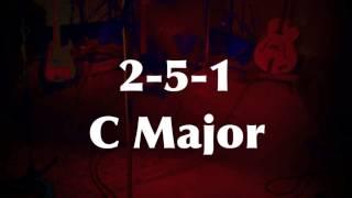 2-5-1 Medium Swing Jazz Practice Backing Track (C Major) - Quist