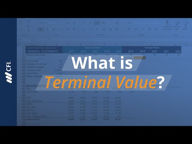 excel finance tutorial terminal excel crash course for finance