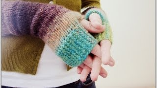 KNITTING TUTORIAL - FINGERLESS MITTENS
