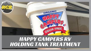 Happy Campers RV Holding Tank Treatment | Product Review | For Black And Grey Tanks