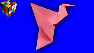 Как сделать машущую крыльями птицу из бумаги. Птица оригами своими руками. Поделки оригами
