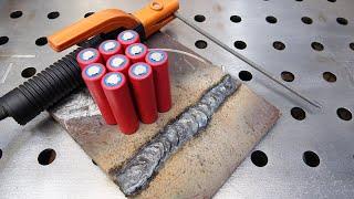 Batterieschweißen - schweißt 10 mm Metall