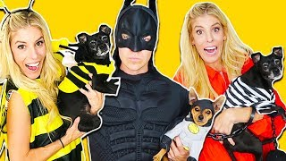 MATCHING COUPLES HALLOWEEN COSTUMES WITH OUR DOGS (TWINS!) Day 286
