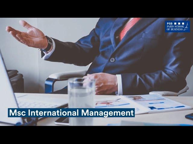 MSc in International Management in Paris