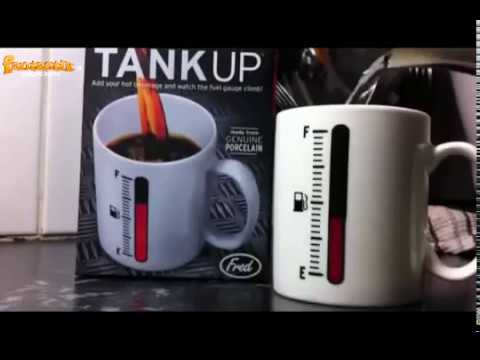 TAZZA TANK UP TERMO SENSIBILE   CAFFÈ COME BENZINA