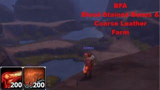 Best Blood Stained Bones/Coarse Leather Farm in BFA