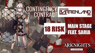 Saria  - (Arknights) - [Arknights CN] - Contigency Contract #0 - Main Stage - 18 Risk feat. Saria