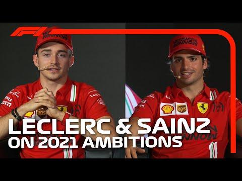 ルクレールとサインツが語るF1 2021 フェラーリチーム体制のローンチライブ配信動画