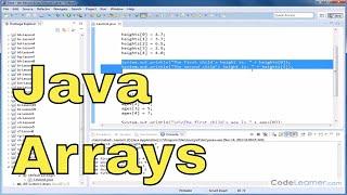 Java Tutorial - 01 - Declaring Arrays & Accessing Elements