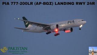 PIA 777-200LR (AP-BGZ) Landing Runway 24R (Toronto Pearson Airport) December 26 2017 (AND IN 4K)